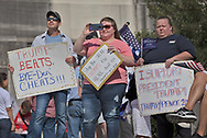 """Participants at a protest  against the 2020 election results at  Louisiana State Capitol in Baton Rouge on Nov 14,  one of <br /> many protests across the nation in support of Trump happening at the same time as the """"Million MAGA March"""" in Washington DC."""