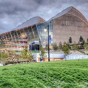 View of the south side of the Kauffman Center for the Performing Arts, Kansas City, Missouri.