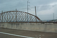bridges on US 90 and Louisiana route 182 across the Atchafalaya River at Morgan City, Louisiana viewed from US 90