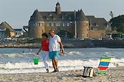 Couple on Narragansett Beach, Rhode Island