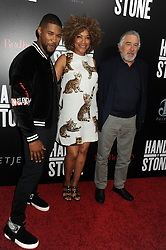 NEW YORK, NY - AUGUST 22: Usher, Grace Hightower, Robert De Niro attends the 'Hands Of Stone' U.S. premiere at SVA Theater on August 22, 2016 in New York City....People:  Usher, Grace Hightower, Robert De Niro. (Credit Image: © SMG via ZUMA Wire)