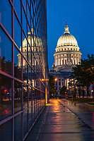 Reflection of Wisconsin State Capitol