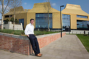 Guy Nevil, senior partner and engineer from Max Fordham outside the Hive, Worcester is the first fully integrated university and public library in the UK.