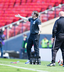 Hibernian's manager Alan Stubbs. <br /> Hibernian 0 v 1 Falkirk, William Hill Scottish Cup semi-final, played 18/4/2015 at Hamden Park, Glasgow.