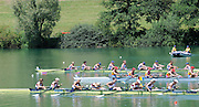 Lucerne SWITZERLAND, GBR W8+ Bow Jo COOK, Alison KNOWLES, Jess EDDIE, Victoria THORNLEY,Nastasha PAGE, Louisa REEVE, Katie SOLESBURY, Lindsey MAGUIRE and co Caroline O'CONNER, competing in their morning heat at the 2011 FISA World Cup on the Lake Rotsee. Friday   08/07/2011   [Mandatory Credit Peter Spurrier/ Intersport Images]