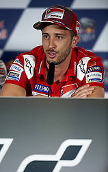 May 3, 2018 - Jerez De La Frontera, Cadiz, Spain - 4 Andrea Dovizioso (Italian) Ducati Team in the press conference before of the Gran Premio Red Bull of Spain, Circuit of Jerez - Angel Nieto, Jerez de la Frontera, Spain. Thursday, 03rd May, 2018. (Credit Image: © Jose Breton/NurPhoto via ZUMA Press)