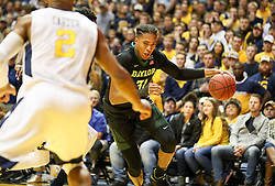Jan 9, 2018; Morgantown, WV, USA; Baylor Bears forward Terry Maston (31) drives down the baseline during the first half against the West Virginia Mountaineers at WVU Coliseum. Mandatory Credit: Ben Queen-USA TODAY Sports