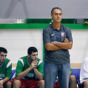 Pinar Karsiyaka's coach Hakan DEMIR during their Turkey Cup Qualifying basketball second match Anadolu Efes between Pinar Karsiyaka at Aliaga Arena in Izmir, Turkey, Monday, October 10, 2011. Photo by TURKPIX