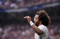Real Madrid's Marcelo during La Liga match between Real Madrid and Valencia CF at Santiago Bernabeu Stadium in Madrid, April 29, 2017. Spain.<br /> (ALTERPHOTOS/BorjaB.Hojas)