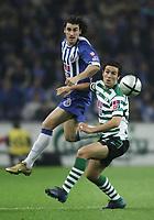 PORTO 08 NOVEMBER  2004: SEITARIDIS #22 and HUGO VIANA #45 in the 9¼ leg of the Super Liga, season 2004/2005, match FC Porto v  Sporting CP, held in Drag‹o stadium,  08/11/2004  20:30<br />(PHOTO BY: NUNO ALEGRIA / AFCD)