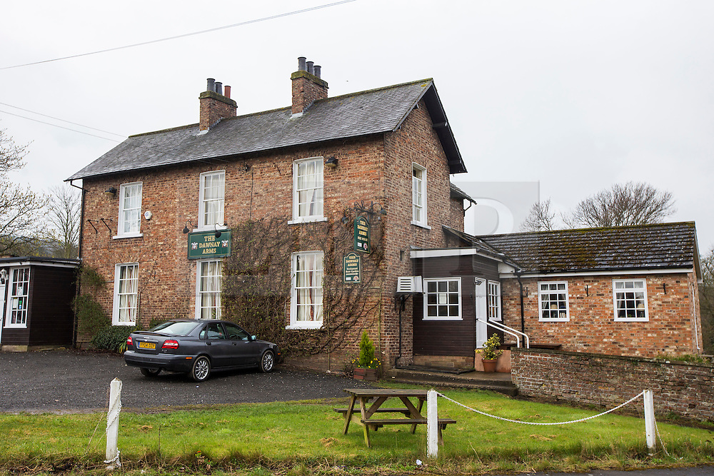 © Licensed to London News Pictures. 03/04/2016. West Heslerton UK. Picture shows the village pub in West Heslerton. The quintessential Yorkshire village of West Heslerton is up for sale at a price of £20M. The estate has a 21 bedroom historic hall, 43 houses, a pub, garage, church & playing fields. Former owner Miss Eve Dawnay died five years ago & she left a perfectly preserved village that has been untouched for 50 years. Her family are now selling the estate & hopefull of finding a buyer who will share Miss Dawnay's wish to conserve a bucolic way of life. Photo credit: Andrew McCaren/LNP