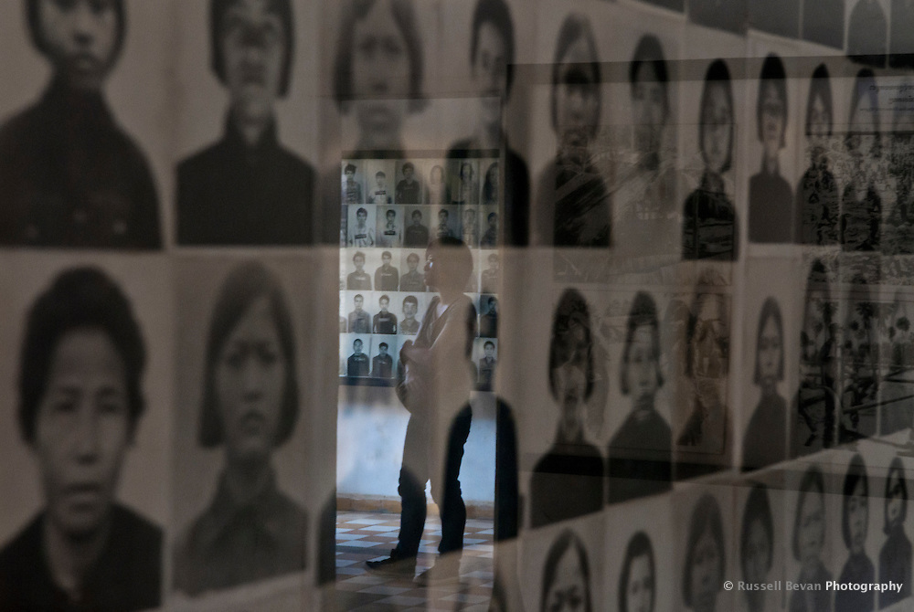 Images of processed female prisoners at Tuol Sleng Genocide Museum, Phnom Penh, Cambodia