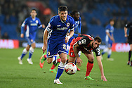 Cardiff's Alex Revell makes a break.  Skybet football league championship, Cardiff city v AFC Bournemouth at the Cardiff city stadium in Cardiff, South Wales on Tuesday 17th March 2015.<br /> pic by Andrew Orchard, Andrew Orchard sports photography.