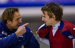 04-01-2003 NED: Europees Kampioenschappen Allround, Heerenveen<br /> 1500 m / Mark Tuitert NED, Jac Orie