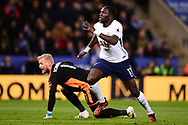 Moussa Sissoko of Tottenham Hotspur in action. Premier league match, Leicester City v Tottenham Hotspur at the King Power Stadium in Leicester, Leicestershire on Tuesday 28th November 2017.<br /> pic by Bradley Collyer, Andrew Orchard sports photography.