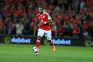 Ashley Williams of Wales in action. Wales v Moldova , FIFA World Cup qualifier at the Cardiff city Stadium in Cardiff on Monday 5th Sept 2016. pic by Andrew Orchard, Andrew Orchard sports photography