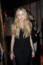 SOPHIA GREENE at the Tatler Little Black Book Party held at Chinawhite, 4 Winsley Street, London on 20th November 2009.