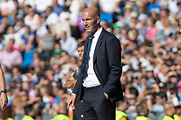 Real Madrid's coach Zinedine Zidane durign the match of La Liga between Real Madrid and SD Eibar at Santiago Bernabeu Stadium in Madrid. October 02, 2016. (ALTERPHOTOS/Rodrigo Jimenez)