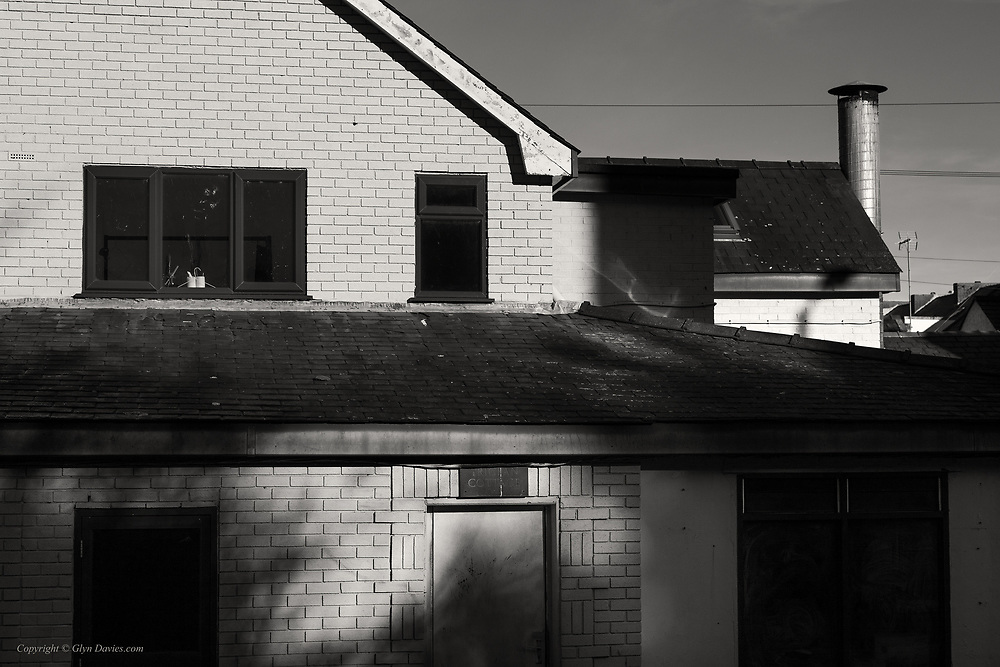 From a personal project looking at buildings & urban spaces under unusual or striking lighting, as if landscapes.