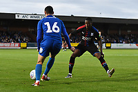 Football - 2019 / 2020 pre-season friendly - AFC Wimbledon vs. Crystal Palace<br /> <br /> Crystal Palace's Giovanni McGregor closes down AFC Wimbledon's Dylan Connolly, at Kingsmeadow Stadium .<br /> <br /> COLORSPORT/ASHLEY WESTERN