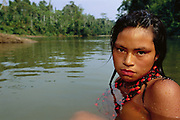 Machiguenga Indian Bathing<br />