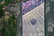 The jumbotron at Washington-Grizzly Stadium on the campus of the University of Montana in Missoula, Montana, on Saturday, November 1, 2014.