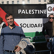 Mohammed Kozbar is a chairman of Finsbury Park Mosque attend the protests of the massacre of Palestinian protestor in Gaza by the Israelis army on the day US moving its embassy to Jerusalem outside Downing Street on 15 May 2018, London, UK.