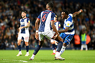 QPR defender Moses Odubajo (22) takes a shot at goal during the EFL Sky Bet Championship match between West Bromwich Albion and Queens Park Rangers at The Hawthorns, West Bromwich, England on 24 September 2021.