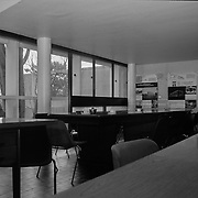 La Plata, Argentina, 1987: Room view at first floor, Currutchet house (1949) at Av. 53-320 - La Plata - Le Corbusier arch - . Photographs by Alejandro Sala,(Historical archive AS)