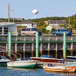 Boats in Wellfleet Harbor in  Wellfleet, Massachusetts. Cape Cod.