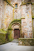 Abbey door, Mont Saint-Michel monastery, Normandy, France