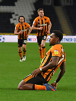 Hull City's Mallik Wilks celebrates scoring his team's opening goal<br /> <br /> Photographer Dave Howarth/CameraSport<br /> <br /> The EFL Sky Bet League One - Hull City v Burton Albion - Saturday 14th November 2020 - KCOM Stadium - Kingston upon Hull<br /> <br /> World Copyright © 2020 CameraSport. All rights reserved. 43 Linden Ave. Countesthorpe. Leicester. England. LE8 5PG - Tel: +44 (0) 116 277 4147 - admin@camerasport.com - www.camerasport.com
