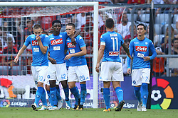 August 2, 2017 - Munich, Germany - Emanuele Giaccherini of Napoli celebration after scoring the goal of 0-2 during the Audi Cup 2017 match between SSC Napoli v FC Bayern Muenchen at Allianz Arena on August 2, 2017 in Munich, Germany. (Credit Image: © Matteo Ciambelli/NurPhoto via ZUMA Press)
