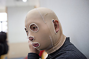 January 7th, Kieu puts on his pressure garment mask, which he had gotten in the habit of not wearing, before he sees his doctor at Chang Gung Hospital in Taoyuan.