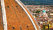 Detail of The Duomo dome from Giotto's Bell Tower (Campanile di Giotto), Florence, Tuscany, Italy