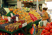 Tel Aviv, Israel, A fruit stall at the Carmel Market