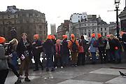 Schoolgirls from Australia, Trafalgar Sq. London, 12 January 2016