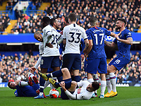 Football - 2019 / 2020 Premier League - Chelsea vs. Tottenham Hotspur<br /> <br /> Tempers flare in the first half, at Stamford Bridge.<br /> <br /> COLORSPORT/ASHLEY WESTERN