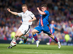 Falkirk's Peter Grant and Inverness Caledonian Thistle's  Falkirk v Inverness CT in the Scottish Cup final at Hampden.