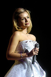 Katherine Jenkins at Sheffield City Hall where she announced her new release had entered the Classical Chart at Number one and into the pop charts at number Five. On the 4th of November she  will  recorded a single  at the Wales v Australia rugby match at the Millennium Stadium, 'The Green Green Grass Of Home'  was released as a single on 20th November and will also feature an exclusive version of 'Have Yourself A Merry Little Christmas..1st December 2006.Copyright Paul David Drabble