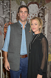 HUGH & ROSE VAN CUTSEM at a Fondue evening hosted by Rose van Cutsem and her brother Tom Astor to celebrate the new ski Season with leading ski resort Meribel, Besson Clothing and ESF ski schools at Maggie & Rose, 58 Pembroke Road, London on 7th November 2016.