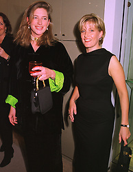Left to right, MISS TIGGY LEGGE-BOURKE and MISS SOPHIE RHYS-JONES fiancee of HRH Prince Edward, at a party in London on 19th January 1999.<br /> MNG 5
