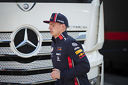 February 18, 2019 - Barcelona, Spain - VERSTAPPEN Max (ned), Aston Martin Red Bull Racing Honda RB15, portrait, Mercedes AMG logo during Formula 1 winter tests from February 18 to 21, 2019 at Barcelona, Spain - Photo Motorsports: FIA Formula One World Championship 2019, Test in Barcelona, (Credit Image: © Hoch Zwei via ZUMA Wire)