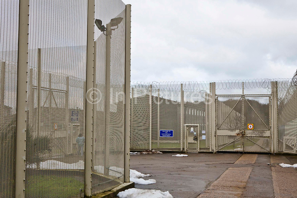 The secure perimeter fence and gates. HM Prison Send is a Closed Category women's prison, located in the village of Send (near Woking), in Surrey, England. The prison is operated by Her Majesty's Prison Service. Send is a closed prison for adult females. In addition it also houses a 20 bed Addictive Treatment Unit, an 80 bed Resettlement Unit and a 40 bed Therapeutic Community. HMP Sends Education Department runs Key Skills courses and NVQs in Business Administration. The Farms and Gardens department offers Floristry NVQs, and the Works Department run an industrial workshop and painting party. Prisoners held in the Resettlement Unit can also do voluntary work, attend College courses and Work Placements in the outside community.