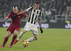 December 23, 2017 - Turin, Italy - Mario Mandzukic during Serie A match between Juventus v Roma, in Turin, on December 23, 2017  (Credit Image: © Loris Roselli/NurPhoto via ZUMA Press)