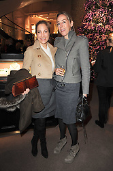 Left to right, JOANA SCHLIEMANN and DAGGI VON TAUBE at a party to celebrate the publication of Nathalie von Bismarck's book 'Invisible' held at Asprey, 167 New Bond Street, London on 9th December 2010.