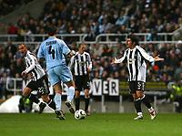 Photo: Andrew Unwin.<br /> Newcastle United v Celta Vigo. UEFA Cup. 23/11/2006.<br /> Newcastle's Emre (R) appeals against a decision.