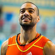 NLD/Apeldoorn/20180217 - NK Indoor Athletiek 2018, 60 meter heren, Patrick van Luijk