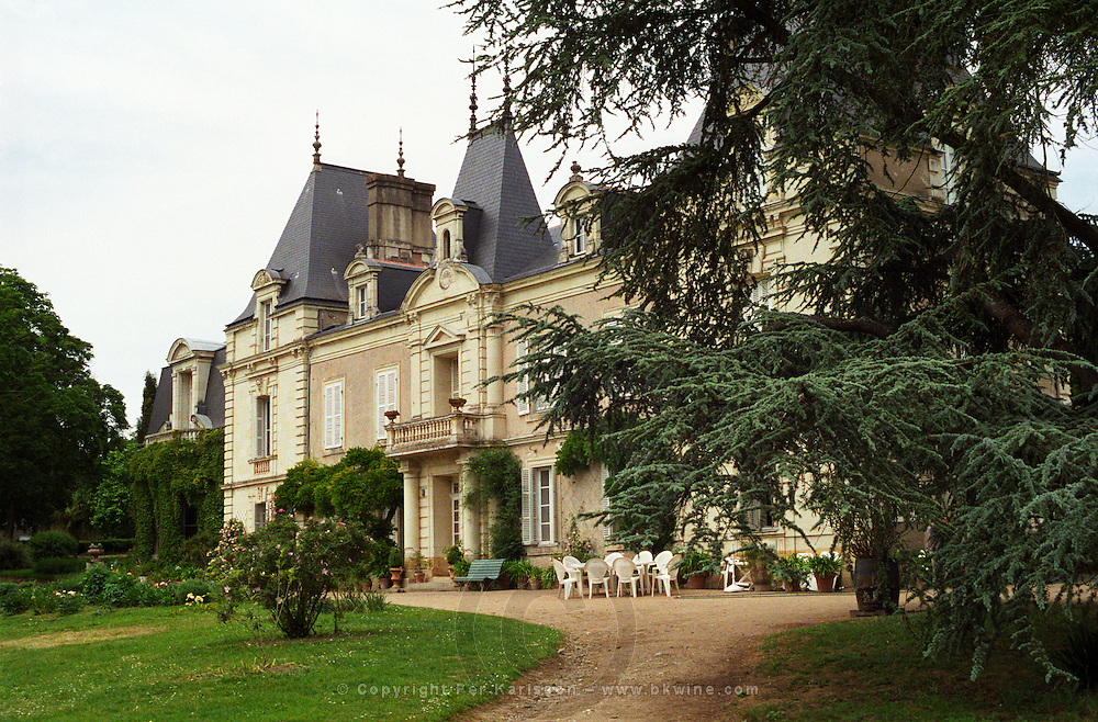 The main building and garden of Domaine du Closel Chateau des Vaults, Savennières Maine et Loire France