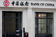Exterior of the Bank of China in the City of London, Great Britain UK. At a time when economic and property investment agreements between Britain and China were confirmed, the Chinese communist state's presence in the UK capital is becoming more obvious.